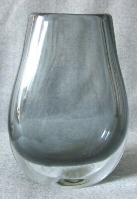 """Art Glass Vase Hand Blown """"E A C Lines"""" Logo etched on base"""