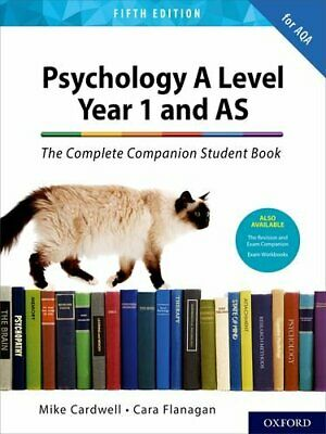 The Complete Companions for AQA A Level Psyc by Mike Cardwell New Paperback Book