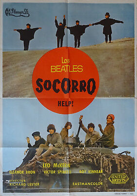 Affiche Cinema Beatles originale Socorro Help 1965