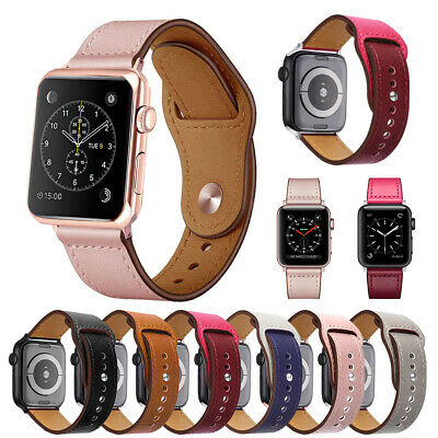 Genuine Leather Band Strap for Apple Watch Series 5 4 3 2 1 40mm 44mm 38mm 42mm