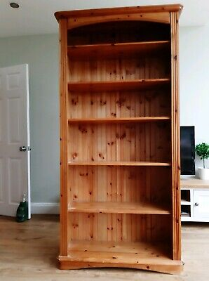DUCAL Tall Bookcase Antique Pine Removable Shelves **GOOD CONDITION**