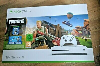 Xbox One S  White 1TB Fortnite Console with Eon Cosmetic Set & 2000 V-Bucks