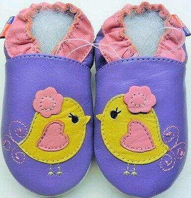 baby girl newborn first shoes flower purple 0-6 m gift free shipping minishoezoo