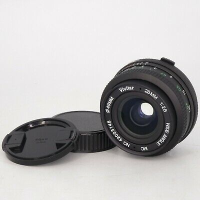 Vivitar 28mm f/2.8 Wide Angle Fixed MC Lens for Olympus OM Mount Cameras