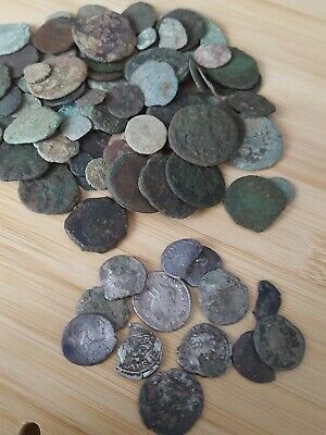 13 x Roman Silver and 100 x Bronze Coins
