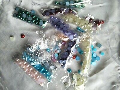 Mixed bulk lot of hot fix glue on round pearls (mb50)