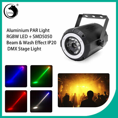 U`King Spot DMX512 RGBW Beam Stage Lighting DJ Disco Uplight Effect Light Show