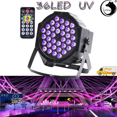 36 LED 72W UV Black Par Stage Lighting DMX512 Remote Control DJ Disco Club Party