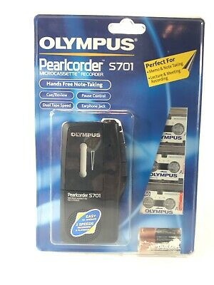 Brand NEW! Olympus Pearlcorder S701 Microcassette Recorder with 3 Cassette Tapes