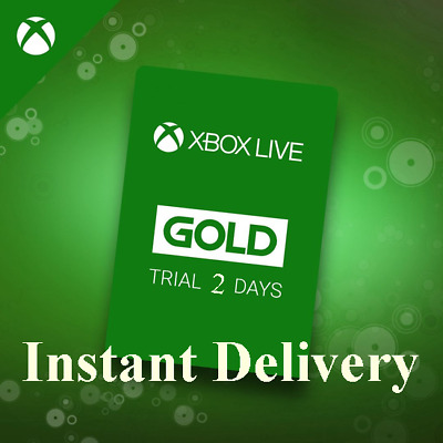 INSTANT Delivery XBOX LIVE 48 hrs GOLD Trial Membership Code - 2 Days