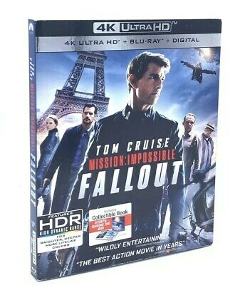 Mission:Impossible - Fallout (4K UHD+Blu-ray+Digital, 2018) NEW w/Slipcover +HDR