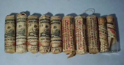 Lot of Ten (10) Early Humphrey's Homeopathic Specifics Bottles (Lot #2)