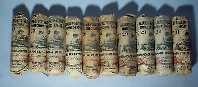 Lot of Ten (10) Early Humphrey's Homeopathic Specifics Bottles (Lot #3)