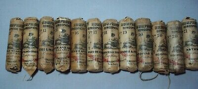 Lot of Twelve (12) Early Humphrey's Homeopathic Specifics Bottles (Lot #4)