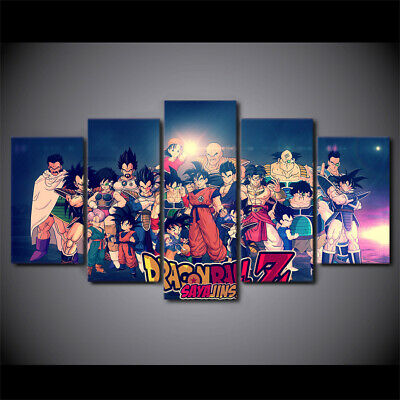 HOT NEW 5 Pieces Dragon Ball Picture Painting HD Canvas wall Art Home Decor