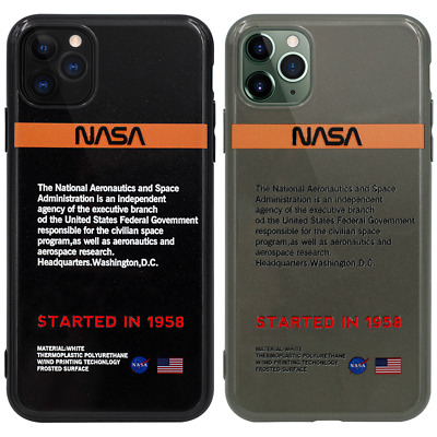 NASA USA SPACE APOLLO ASTRON Flash Powder Case Cover For iPhone 11 Pro Max XS XR