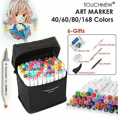 Professional 168 Colour Markers Pen Touch New Graphic Artist Sketch Twin Tips