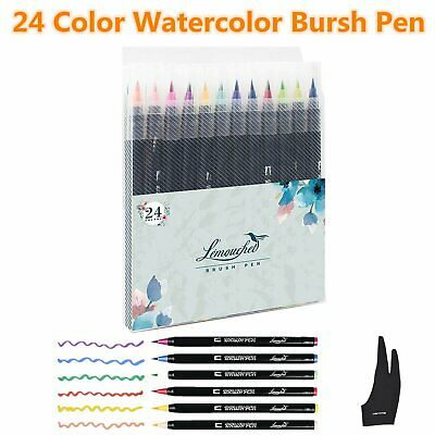 120 Unique Colour Brush Pen Markers Pen Watercolour Drawing Sketch Artist Manga