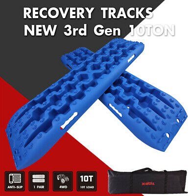 X-BULL Recovery Tracks Sand Traction Snow Mud Tire Ladder Off-Road 2PCS Blue 4WD