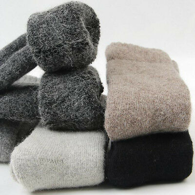 New Mens 100% Wool Thick Warm & Comfortable & Pure Winter Cashmere Fashion Socks