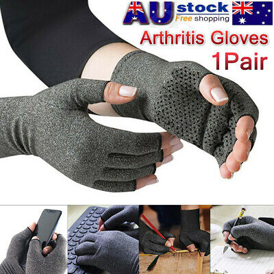 2 Pairs Arthritis Gloves Compression Joint Finger Pain Relief Hand Wrist Support