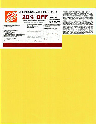 20% OFF HOME DEPOT Competitors Coupon at Lowe's Exp 12/31/19