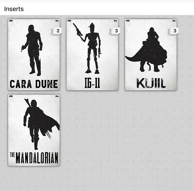 Topps Star Wars Card Trader Lawless Lands The Mandalorian White Set Of 4