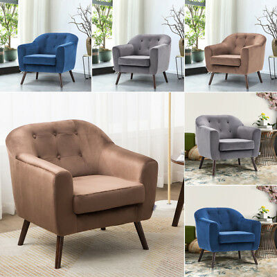 1 Seater Low Sofa Armchair Upholstery Accent Chair Home Office Occasional Chairs
