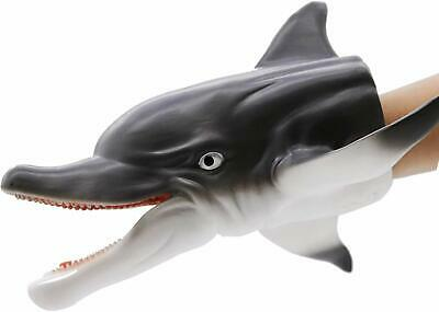 Dolphin Hand Puppet Soft Kids Toy Gift Great Cake Decoration Topper Children