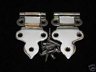 FURNITURE PARTS HOOSIER TYPE NICKEL PLATED HINGES N1553