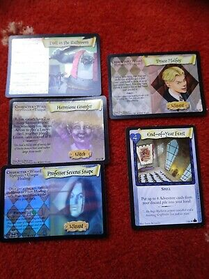 Harry Potter Trading Card Game shiny & rare Snape Malfoy Hermione troll feast