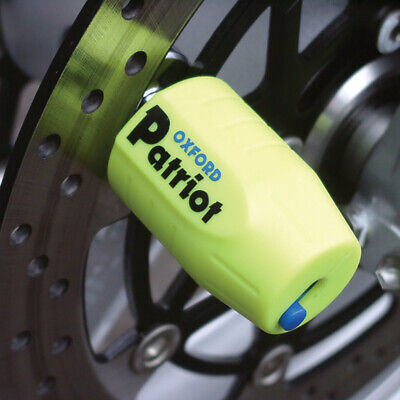 Oxford Patriot Thatcham Approved Motorcycle Motorbike Disc Lock OF40 Yellow