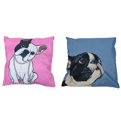 2pcs High-Quality Personalized European French Bulldog Theme Printed Patter D9G2