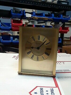 Remington Multi Quartz Brass Carriage Mantle Clock Made in West Germany.