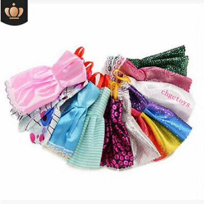 10Pcs Dresses for Barbie Doll Fashion Party Girl Dresses Clothes Gown Toy Gift.