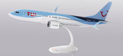 TUIfly Boeing 737 MAX 8 1:200 Herpa Snap-Fit 611961 Flugzeug Modell B737 Belgien