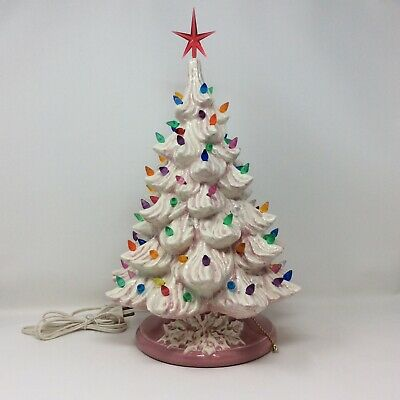 "17""  Lighted Ceramic Christmas Tree"