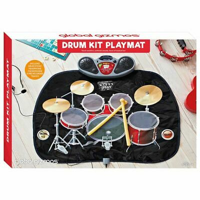 Drum Kit Playmat CHRISTMAS XMAS PARTY FAMILY FUN LIGHTS SOUND