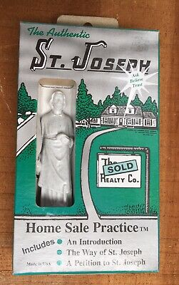 St Joseph Statue Home Sale Kit Way of Saints  House Sell 3.5 in Instructions
