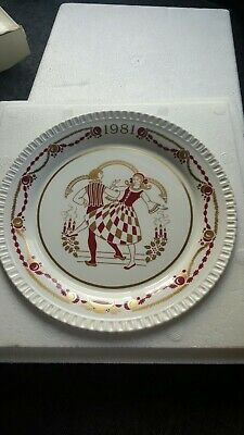 """VINTAGE The Twelfth Spode Christmas Plate 1981  8"""" Diameter. BOXED!"""
