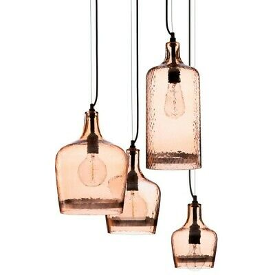 "Lampe Suspension 4 Têtes ""Colore"" 85cm Cuivre"