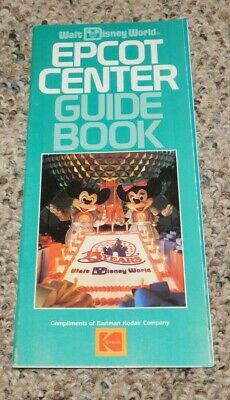 1986 Walt Disney World Epcot Center Guide Book and Map Amusement Park Brochure