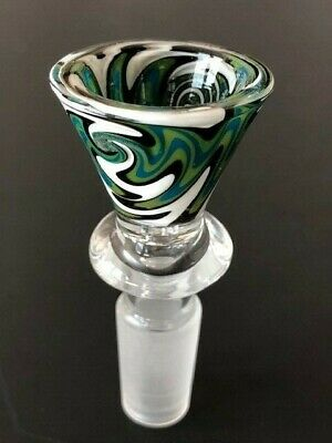 14mm Joint Glass Slide Bowl funnel Hand Blown Random Color USA seller