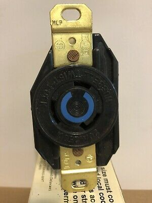 Hubbell HBL2320 2 Pole 3 Wire Twist Lock Receptacle 20A 250V