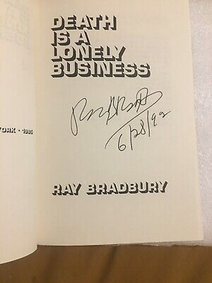 "Ray Bradbury Signed First Edition Book ""Death Is.."" ""Fahrenheit 451"" Author"