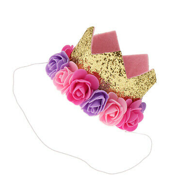 Infant Baby Girls 1st 2nd 100day Birthday Party Fiore Crown Tiara Accessori