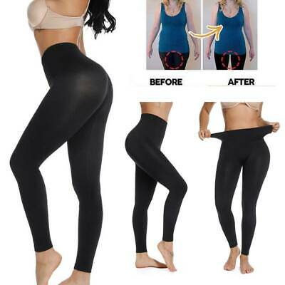 NEW WOMENS SEAMLESS TUMMY CONTROL SLIMMING SUPPORT LEGGINGS SIZE 8-26