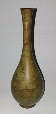 Japanese Very Old Bronze Antique Vase Patina
