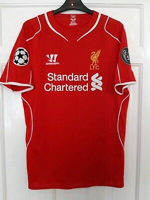 Liverpool Medium Home Shirt Gerrard Champions League European Cup Red Rare