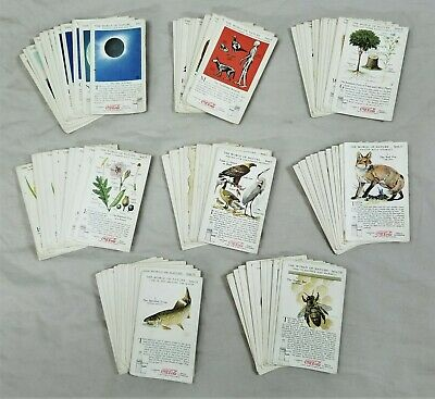 1930's Coca-Cola World of Nature Used Card Sets Missing 2 - 94 cards total!